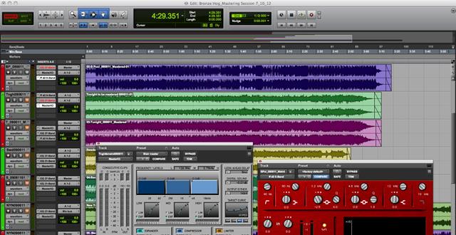 Zone Recording Studio does audio mastering