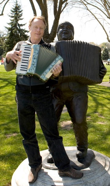 Blair and Boggio with accordions